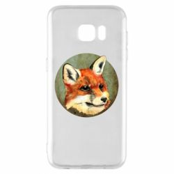 Чехол для Samsung S7 EDGE Fox Art - FatLine