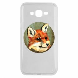 Чехол для Samsung J7 2015 Fox Art - FatLine