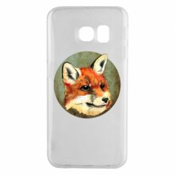 Чехол для Samsung S6 EDGE Fox Art - FatLine