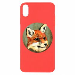 Чехол для iPhone X Fox Art - FatLine