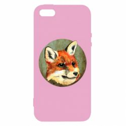 Чехол для iPhone5/5S/SE Fox Art - FatLine