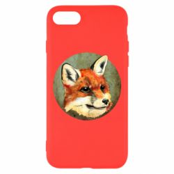 Чехол для iPhone 7 Fox Art - FatLine