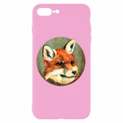Чехол для iPhone 7 Plus Fox Art - FatLine