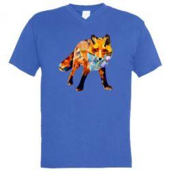 Чоловіча футболка з V-подібним вирізом Fox broken