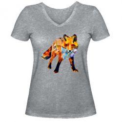 Жіноча футболка з V-подібним вирізом Fox broken