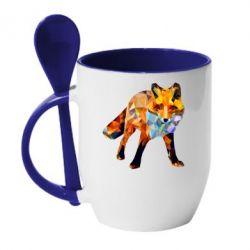 Кружка з керамічною ложкою Fox broken