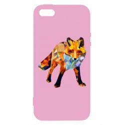 Купить Лиса, Чехол для iPhone5/5S/SE Fox broken, FatLine