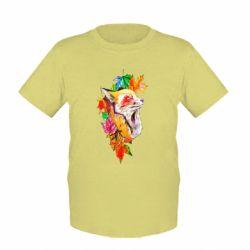 Детская футболка Fox in autumn leaves
