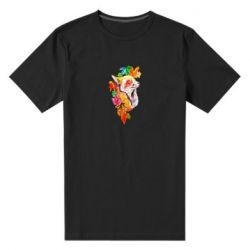 Мужская стрейчевая футболка Fox in autumn leaves