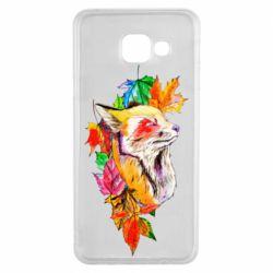 Чехол для Samsung A3 2016 Fox in autumn leaves