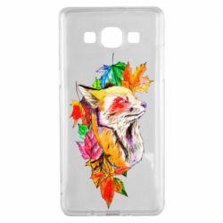Чехол для Samsung A5 2015 Fox in autumn leaves