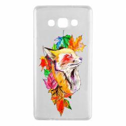 Чехол для Samsung A7 2015 Fox in autumn leaves