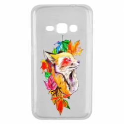 Чехол для Samsung J1 2016 Fox in autumn leaves