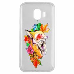 Чехол для Samsung J2 2018 Fox in autumn leaves