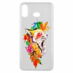 Чехол для Samsung A6s Fox in autumn leaves