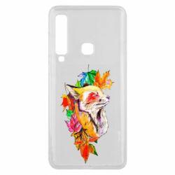 Чехол для Samsung A9 2018 Fox in autumn leaves