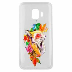Чехол для Samsung J2 Core Fox in autumn leaves