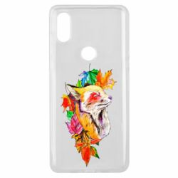 Чехол для Xiaomi Mi Mix 3 Fox in autumn leaves