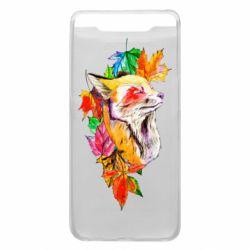Чехол для Samsung A80 Fox in autumn leaves