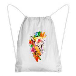 Рюкзак-мешок Fox in autumn leaves