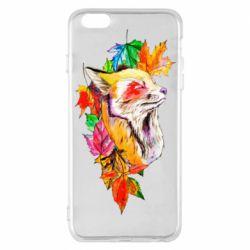 Чехол для iPhone 6 Plus/6S Plus Fox in autumn leaves