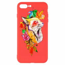 Чехол для iPhone 7 Plus Fox in autumn leaves