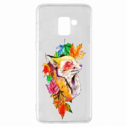 Чехол для Samsung A8+ 2018 Fox in autumn leaves