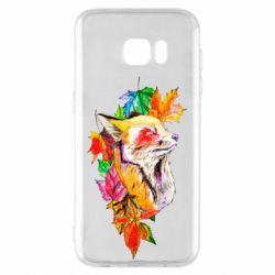 Чехол для Samsung S7 EDGE Fox in autumn leaves