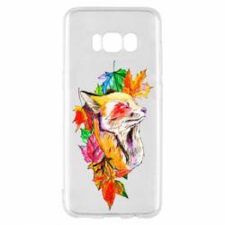 Чехол для Samsung S8 Fox in autumn leaves