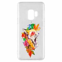 Чехол для Samsung S9 Fox in autumn leaves