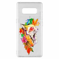 Чехол для Samsung Note 8 Fox in autumn leaves