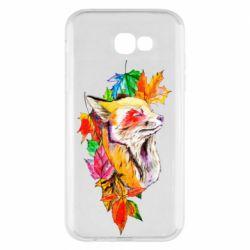 Чехол для Samsung A7 2017 Fox in autumn leaves