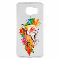 Чехол для Samsung S6 Fox in autumn leaves