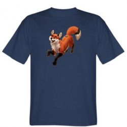 Мужская футболка Fox in flight