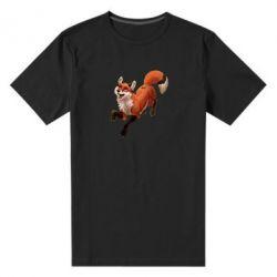 Мужская стрейчевая футболка Fox in flight