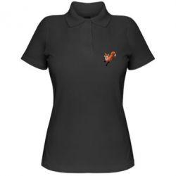 Женская футболка поло Fox in flight