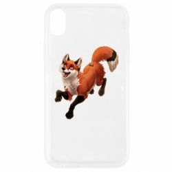 Чехол для iPhone XR Fox in flight