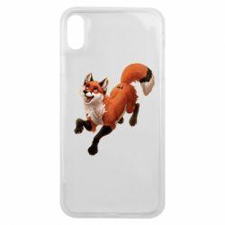 Чехол для iPhone Xs Max Fox in flight