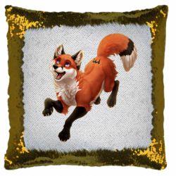 Подушка-хамелеон Fox in flight