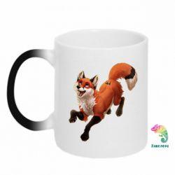 Кружка-хамелеон Fox in flight
