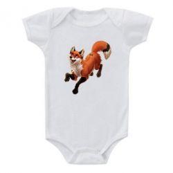 Детский бодик Fox in flight