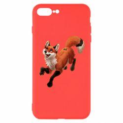 Чехол для iPhone 8 Plus Fox in flight