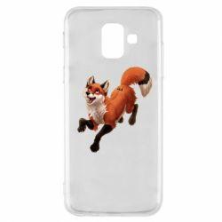 Чехол для Samsung A6 2018 Fox in flight