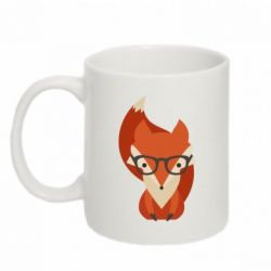 Кружка 320ml Fox in glasses