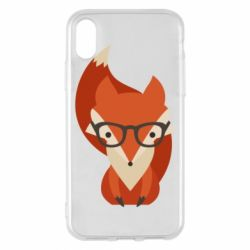 Чехол для iPhone X Fox in glasses - FatLine