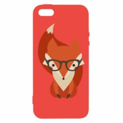 Чехол для iPhone5/5S/SE Fox in glasses - FatLine