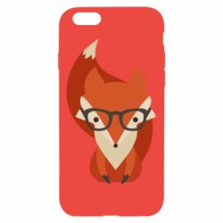 Чехол для iPhone 6/6S Fox in glasses - FatLine