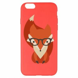 Чехол для iPhone 6 Plus/6S Plus Fox in glasses - FatLine