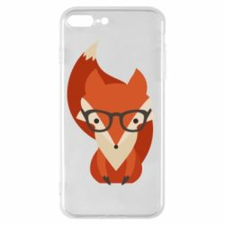 Чехол для iPhone 8 Plus Fox in glasses - FatLine