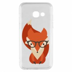 Чехол для Samsung A3 2017 Fox in glasses - FatLine